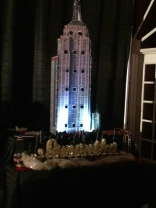 Empire State building candle lighing ceremony