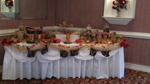 fall in love candy table